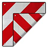 2in1 Warntafel Spanien UND Italien Aluminium 50x50cm reflektierend rot-weiß Heckträger/Fahrradträger
