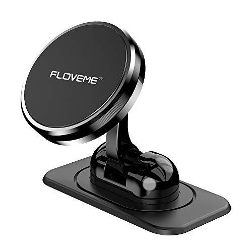 FLOVEME Handyhalterung Auto Magnet Armaturenbrett, Magnetische Handyhalter fürs Auto mit Klebrige Basis, Einstellbar KFZ Handy Halterung Kompatibel für iPhone 11 Pro XS XR X 8 7 Samsung Huawei usw