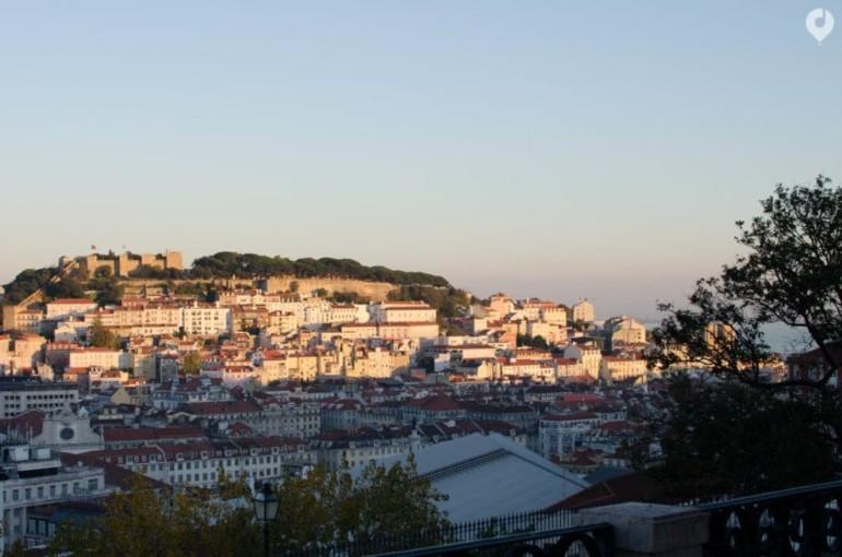 Miradouro São Pedro de Alcântara in Lissabon