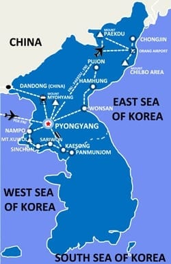 Reiseroute Nordkorea