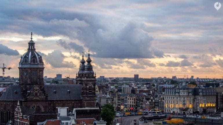 Sonnenuntergang in Amsterdam