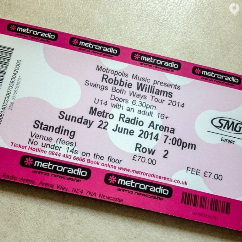 Robbie Williams in Newcastle