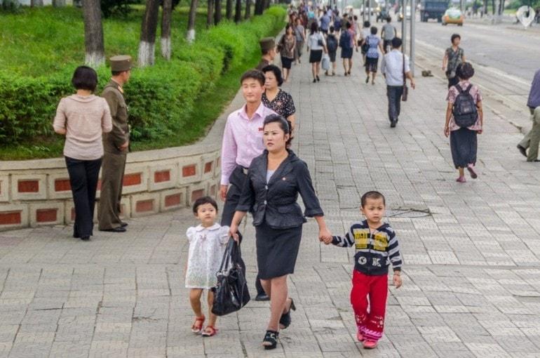 Auf den Straßen Pjöngjangs