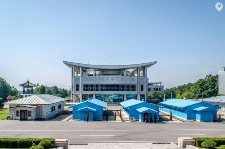 An der DMZ in Nordkorea