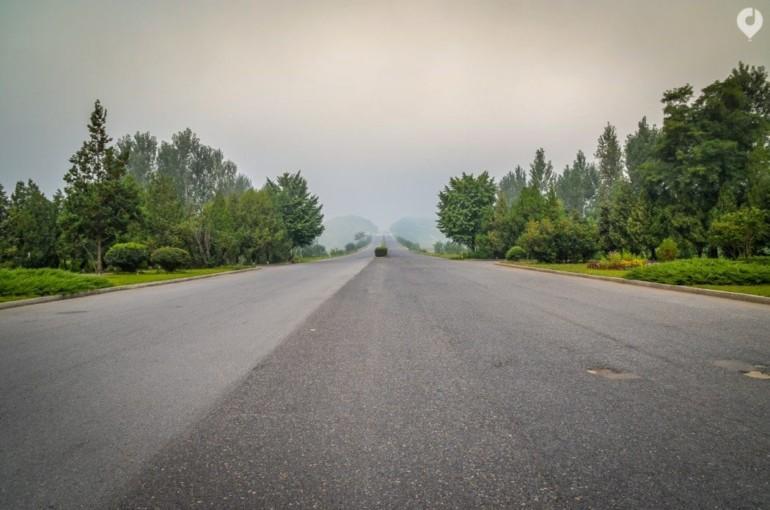 Die 'Autobahn' in Nordkorea
