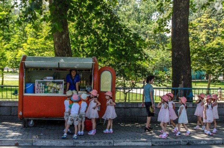 Im Park in Pjöngjang, Nordkorea