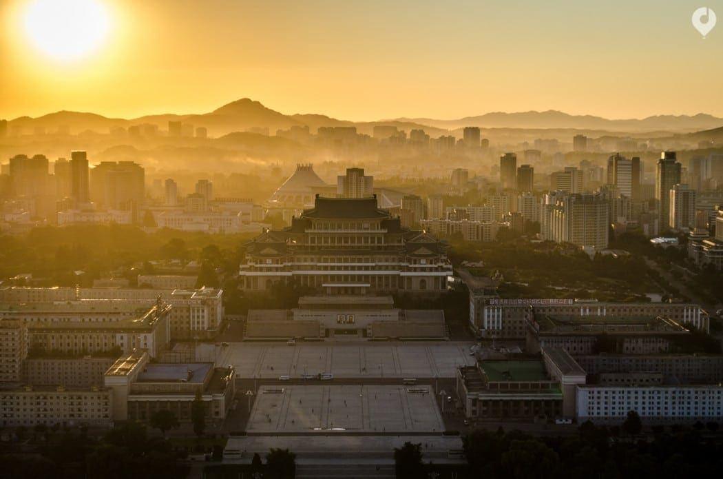 Sonnenuntergang in Pjöngjang