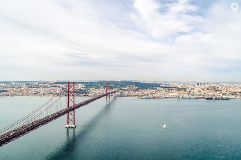 Lissabon - Blick auf die Ponte 25 de Abril