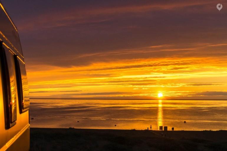 Sonnenuntergang in Kalajoki, Finnland