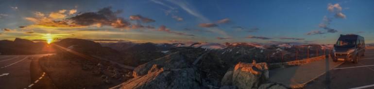 Sonnenaufgang: Dalsnibba, Norwegen