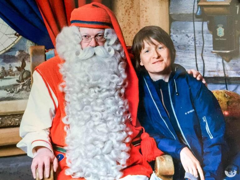 In Rovaniemi, Finnland beim Weihnachtsmann