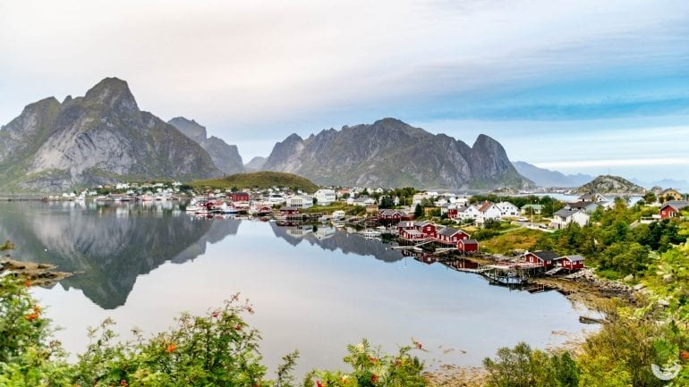 Abends in Reine, Lofoten, Norwegen