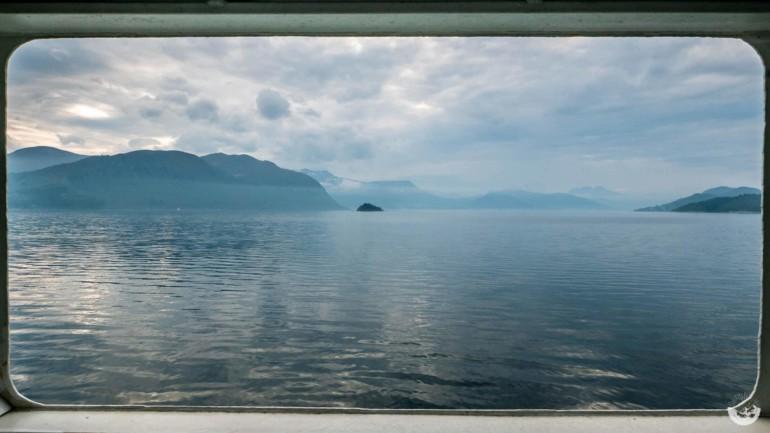 Auf der Fähre in Norwegen