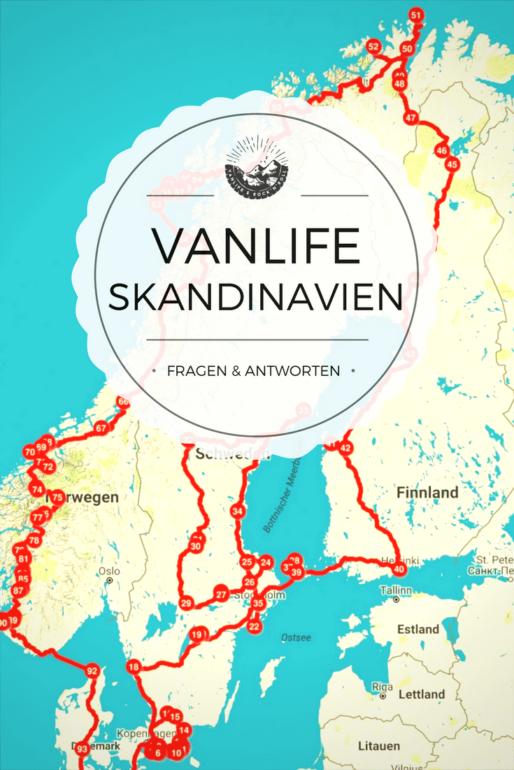 3 Monate im Van durch Skandinavien reisen. Wie funktioniert das alles - Übernachten, Kochen, Arbeiten, Frischwasser, Abwasser, Strom, Gas…?