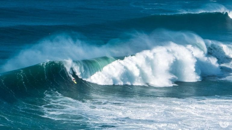 Big Wave Surf Contest in Nazaré, Portugal