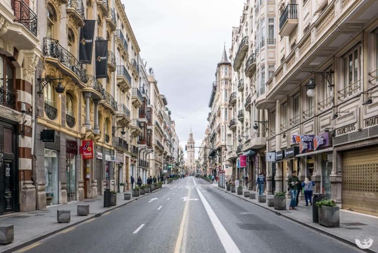 Autofreie Straßen in Valencia