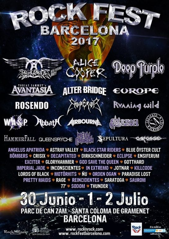 Musik-Festivals in Spanien: Rock Fest Barcelona