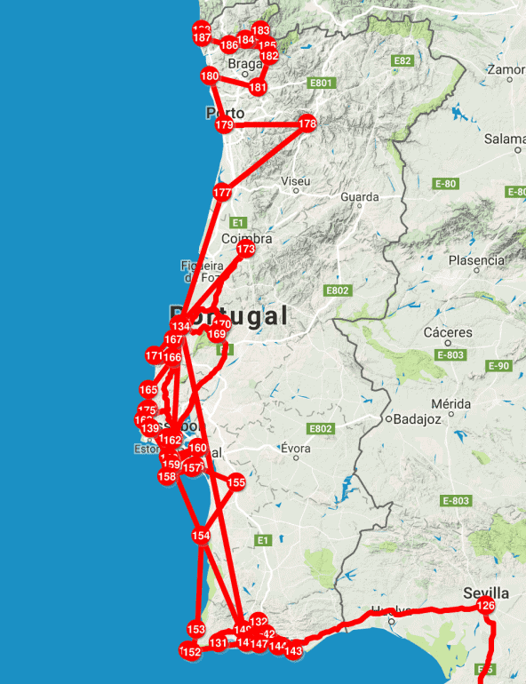 Portugal Roadtrip Route