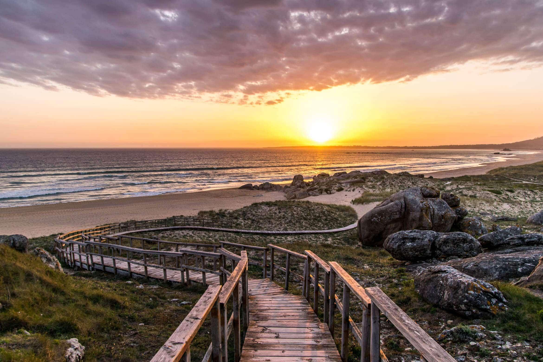 Praia do Vilar in Galicien, Spanien