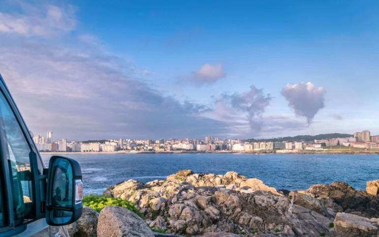 La Coruña in Spanien