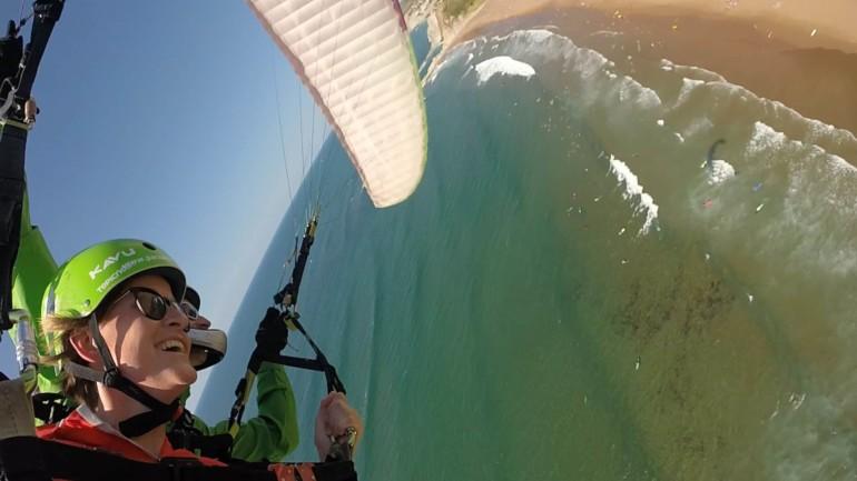 Mein erster Gleitschirmflug - die baskische Küste von oben!