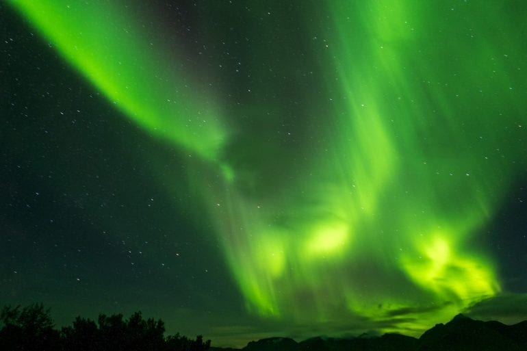 Vanlife in Norwegen: Nordlichter
