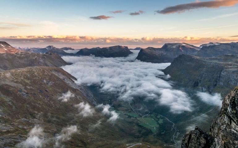Vanlife in Norwegen: Blick auf's Geirangerfjord