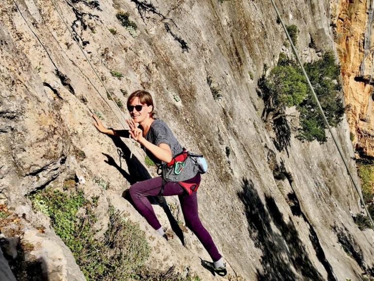 Klettern in Leonidio, Griechenland