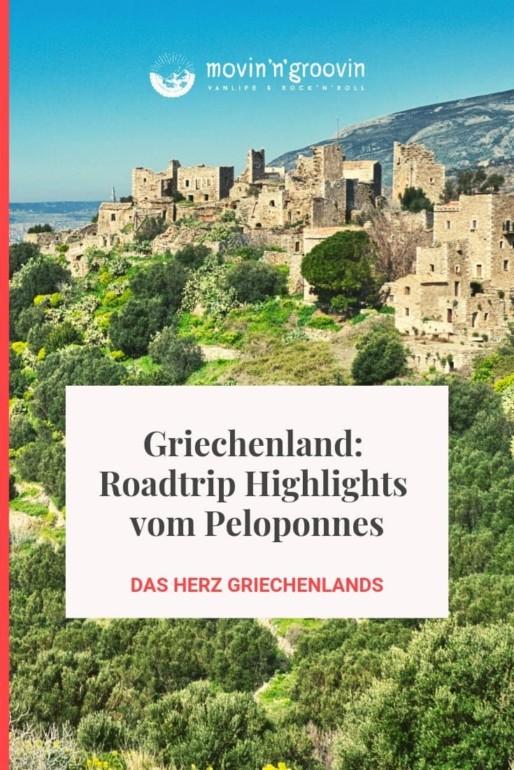 Roadtrip Highlights vom Peloponnes - dem Herzen Griechenlands