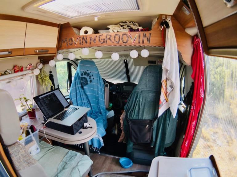 Mein Büro im Van